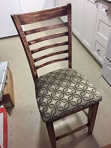 Set of 4 pub height chairs rustic look