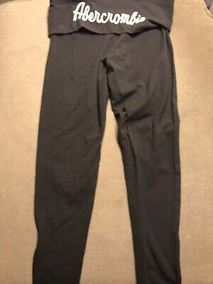 Women's Abercrombie & Fitch Gray Pants Medium M