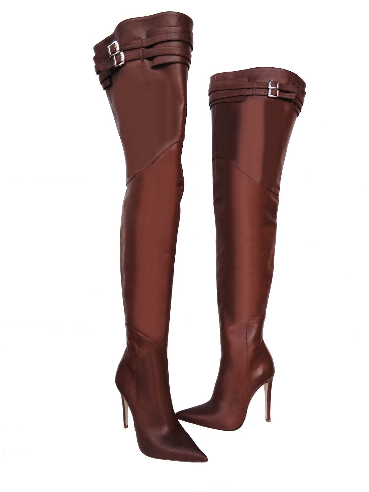 CQ COUTURE ITALY PEARLS NEW OVERKNEE BOOTS STIEFEL STIVALI
