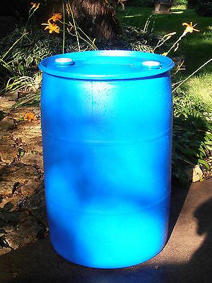 PLASTIC BARREL 55 GALLON HDPE - Blue ...