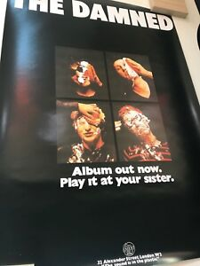 The Damned 1st LP Punk Poster