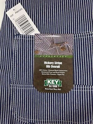 NEW Mens Authentic KEY IMPERIAL Carpenter Bib Overalls Hickory Stripe 100%cotton](Striped Overalls)