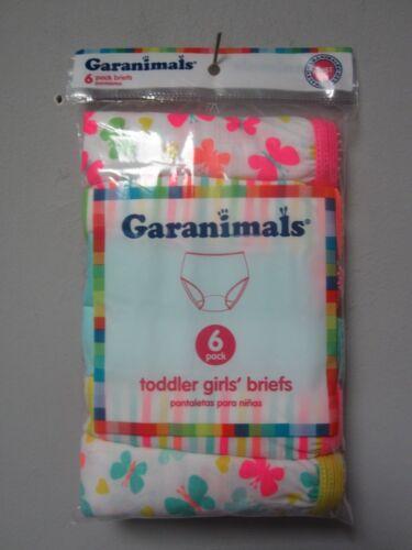 Garanimals Toddler Girls 6-Pack Butterfly/Stripe Briefs Underwear Size 4T/5T