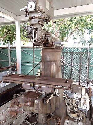 Bridgeport Variable Speed Head Vertical Milling Machine And Power Feed