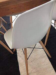 White Eames Chair x6 Mount Lofty Toowoomba City Preview