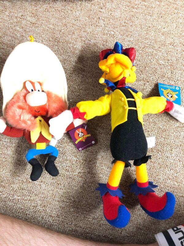 "Yosemite Sam Daffy Duck Plush Doll  Warner Bros Looney Toons 10-13"" 2002 Vintage"