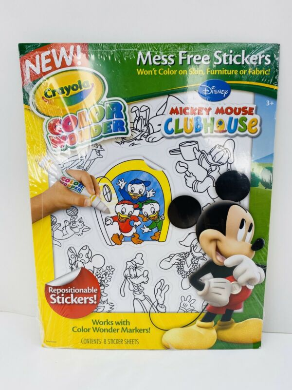 Crayola Color Wonder Mickey Mouse Clubhouse Mess Free Stickers 8 Sheets (BB)