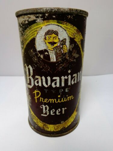 BAVARIAN TYPE FLAT TOP BEER CAN #35-6  MOUNT CARBON BREWING CO. PA.