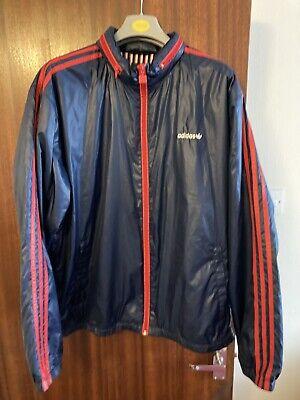 Adidas Mens Retro Windbreaker In Large (with Zip Away Hood)
