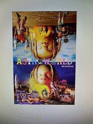 TRAVIS SCOTT ASTROWORLD 24x36 POSTER HOUSTON HIP HOP MUSIC RAP CACTUS JACK GIFT!