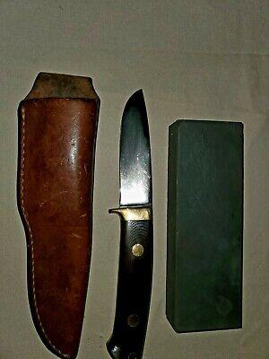 "Vintage Jimmy Lile Hunter Knife, Etched 3 3/4"" Blade; 4 3/4"" Handle. Used"