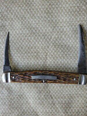 VINTAGE SCHRADE CUT. CO. WALDEN N.Y. 2 bladed pocket knife