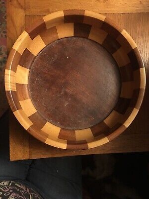 Vintage Cambridge Ware Newnham Wooden Segment Fruit Bowl/Dish 9
