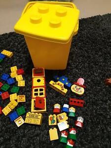 VINTAGE RETRO LEGO DUPLO BUCKET SET