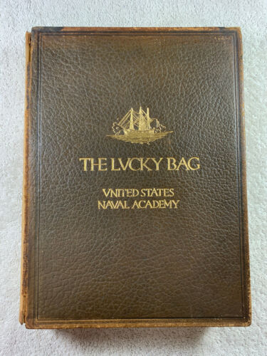 1921 The Lucky Bag Yearbook United States Naval Academy US Navy Genealogy Annual