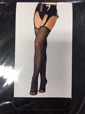 2Pairs New Leg Avenue 1 Black and 1 Red Fishnet Stockings (#110039-4)