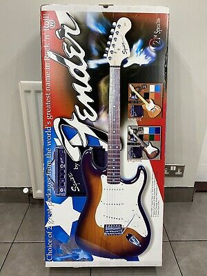 Fender Strat Electric Guitar Pack With 10w Amp
