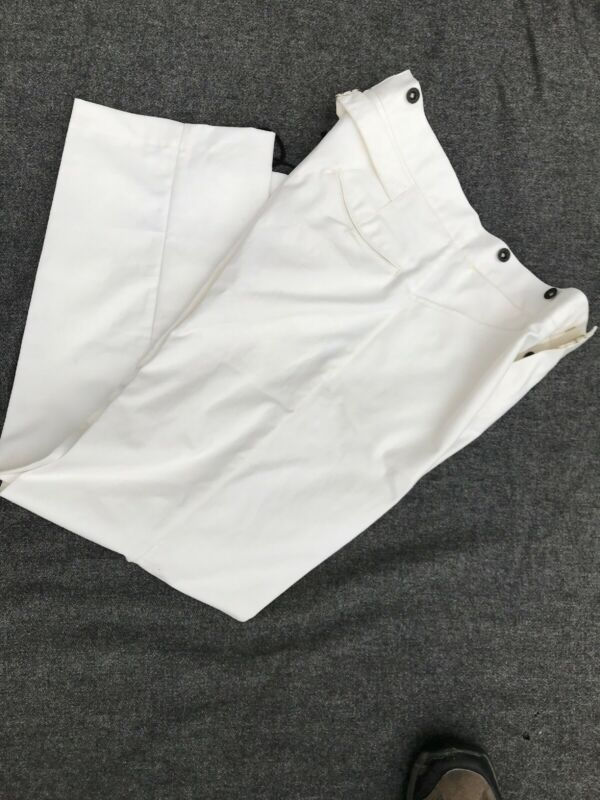 US Army White Cotton Duck Canvas Trousers size 36