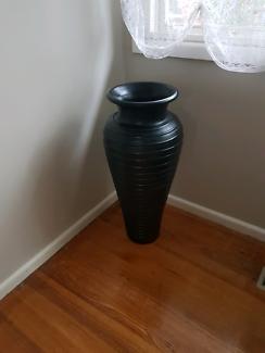 Very large black vase / pot (850 x 300mm) - excellent condition