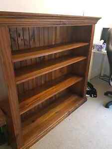 Walnut stained bookcase VGUC Croydon Burwood Area Preview