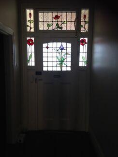 Original Edwardian Period Leadlight Door and surround.