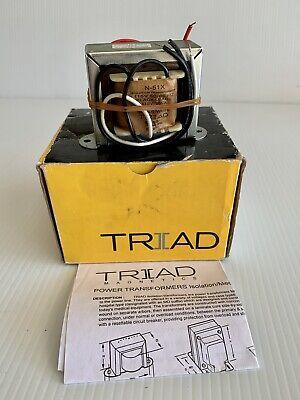 New Open Box Triad Magnetics N-51x Isolation Transformer 115v 35va 5060hz