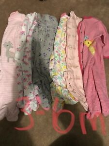 Baby girl sleepers 3-6 months
