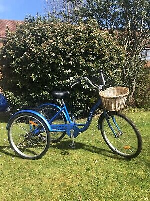 "Jorvik Adult tricycle, 26"" Wheels, Rear + Front Baskets, 6 Gears BUY IT NOW"