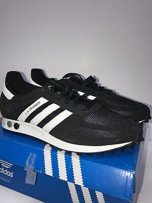 Adidas LA TRAINER OG Sneaker Mens Shoes Black & White  DB0343  Size 9.5 Ugly Box