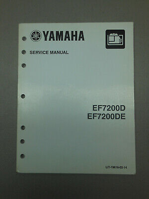 Oem Yamaha Ef7200d Ef7200de Generator Service Manual Shop Guide Print April 2014