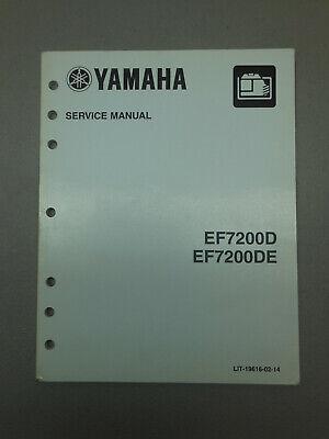 Oem Yamaha Ef7200d Ef7200de Generator Service Manual Shop Guide Print April 2014