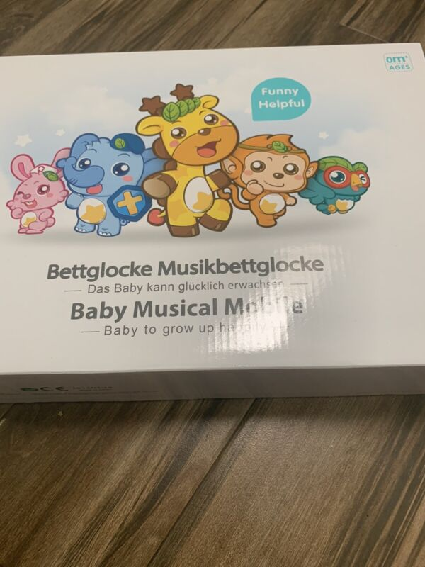 Baby Musical Bed Bell Kid Crib Musical Mobile Music Box Gift Baby Rattle Toy NEW