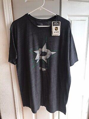 NWT CCM Dallas Stars Grey Team Classics T Shirt NHL RARE GreenSize -