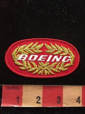 Vtg (80s-90s Era) BOEING AIRPLANE Advertising Patch (Seattle WA Wichita KS) 84X9