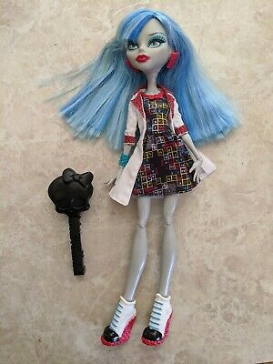 "Monster High 11"" Doll GHOULIA YELPS MAD SCIENCE SCHOOL LAB Brush Lot"