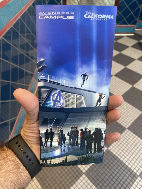 June 2021 Opening Day Avengers Campus Guide Map maps California Adventure Park