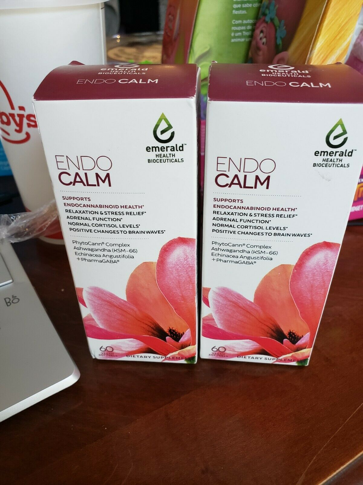 2-Emerald Health Endo Calm 60 EACH = 120ct Total endocalm EXP 7/22