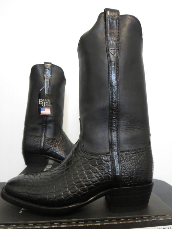 Black, Jack, Boots, Alligator, Belly, &, Venus, Calf, Mens, Cowboy, Boot, 524,, New, In, Box!