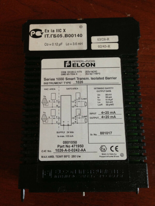 Elcon 1026-A-0-0242-AA Isolated Signal Convertor 1025-A-0-0242-AA