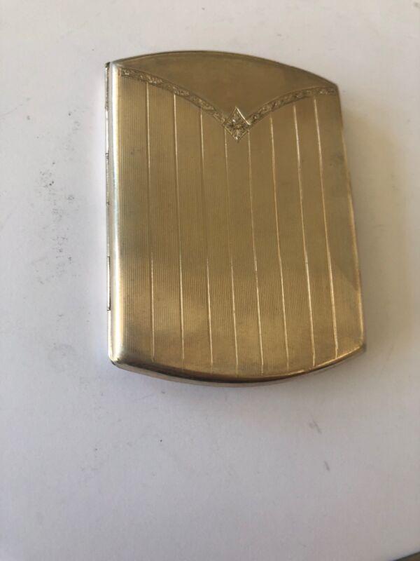 Art Deco English  Hallmarked Silver Card Case 94 Grams