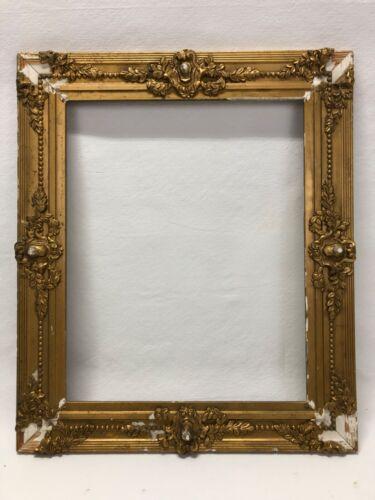 Antique 20x16 Gold Gilt Ornate Victorian Picture Frame c