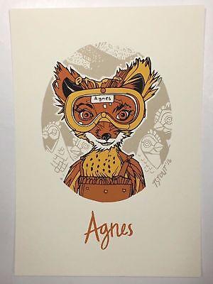 Agnes Handbill Tyler Stout Fantastic Mr. Fox Screenprint Poster Art Mondo