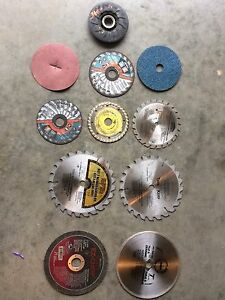 Saw blades & tiles blades &sanding wheels $80for all