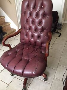 Antique executive chair