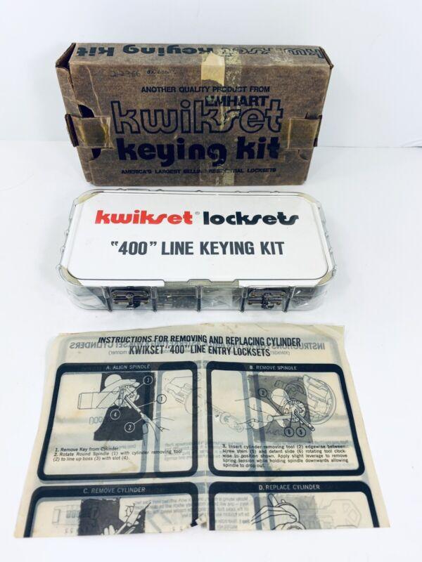 Vintage Kwikset Lockset 400 Line Keying Kit Pin Kit Locksmith Tools Nice