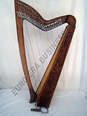 27 string irish harp , irish celtic rosewood 27 string harp With Carrying Bag