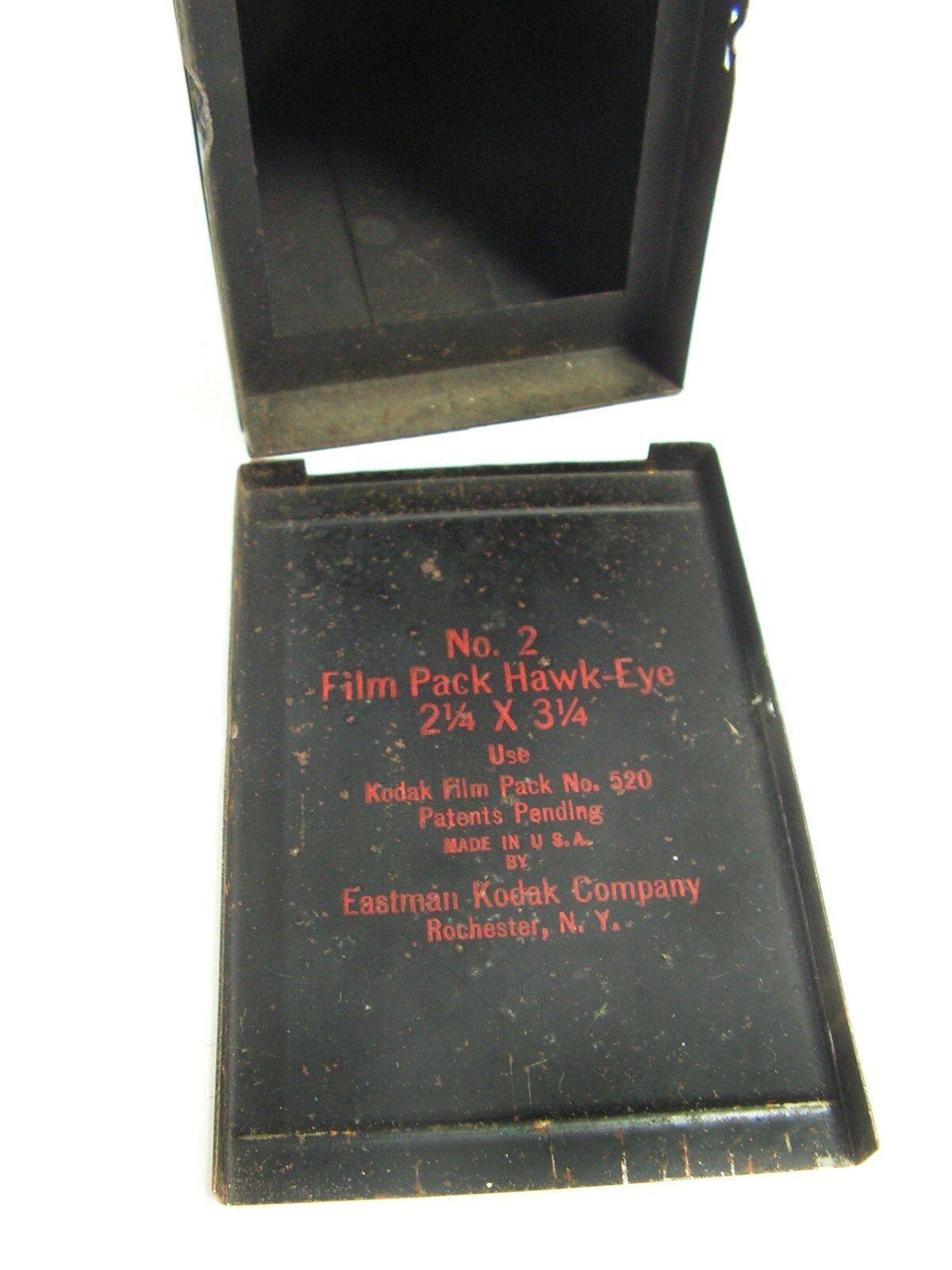 2 Film Pack Hawkeye Box Camera Made In 1922 Vintage Kodak No