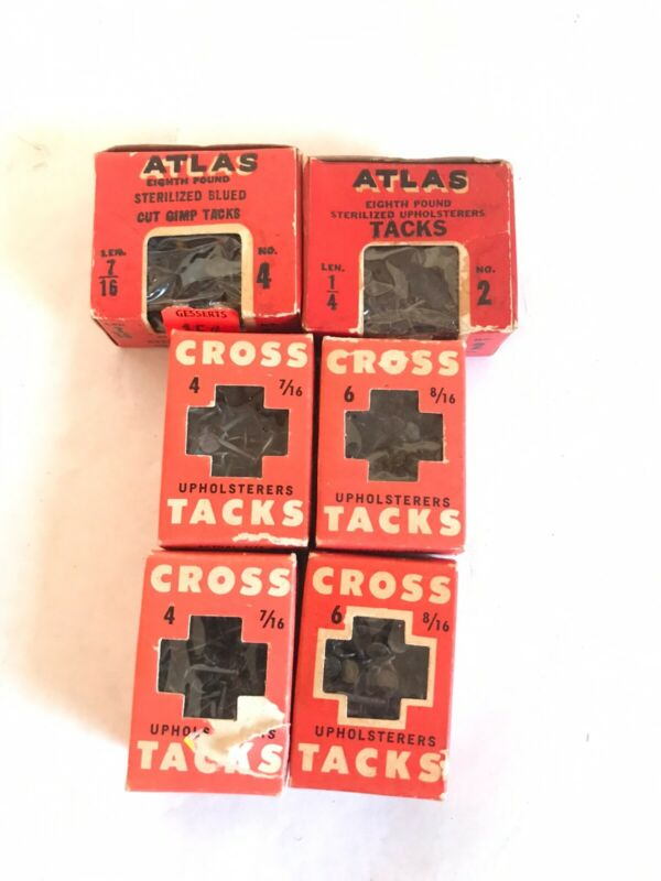 Vintage Atlas Cross Upholstery Tacks