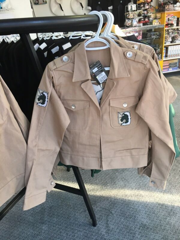 Attack on Titan Military Police Denim Jacket- Sizes 1 Med 2 Large