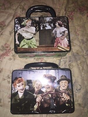 I LOVE LUCY SET OF 2 MINI TIN LUNCH BOXES LUCY RICKY ETHEL FRED I Love Lucy Mini Tin